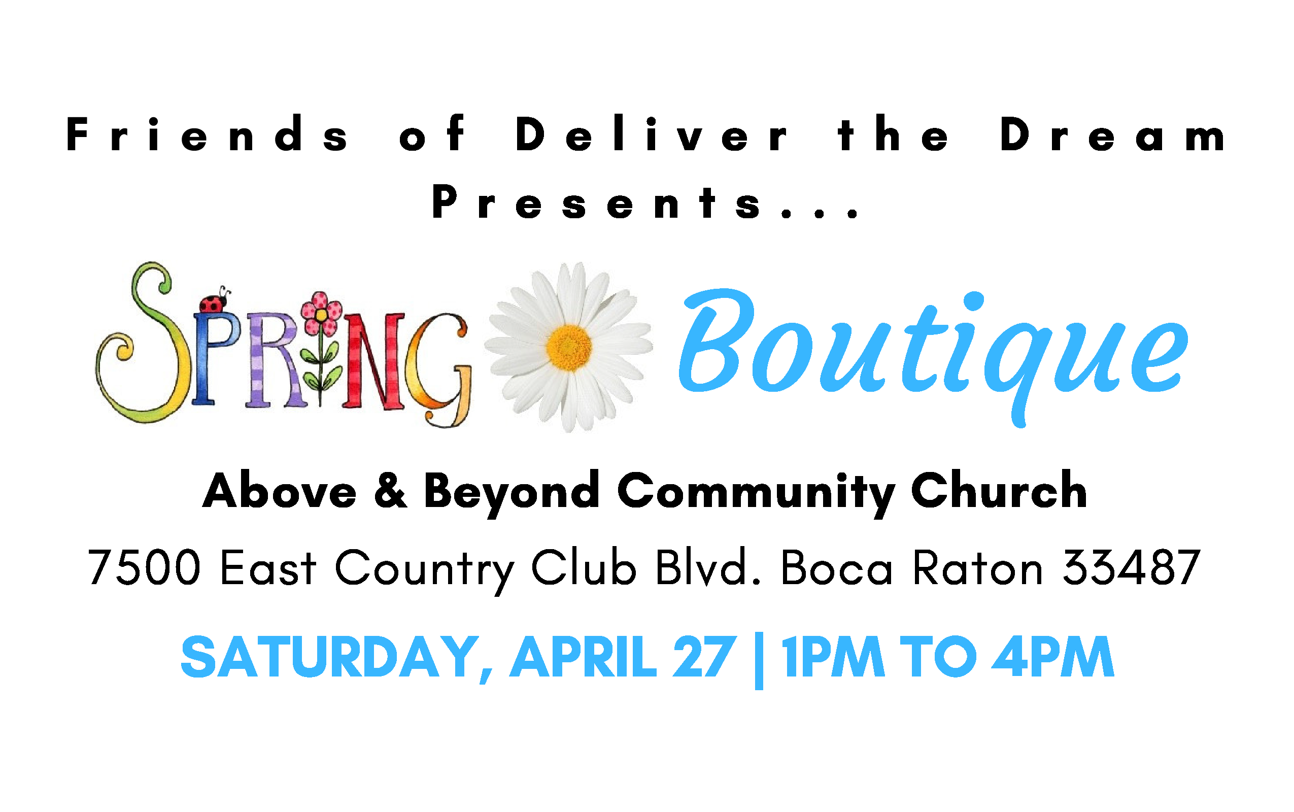 Special Spring Boutique Fundraising Event