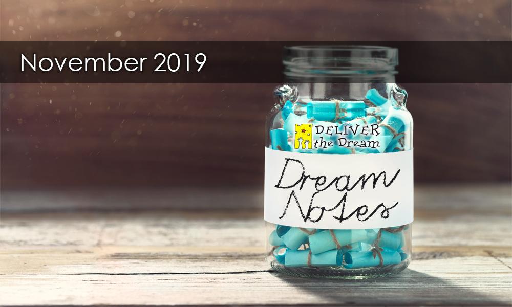 Dream Notes – November 2019